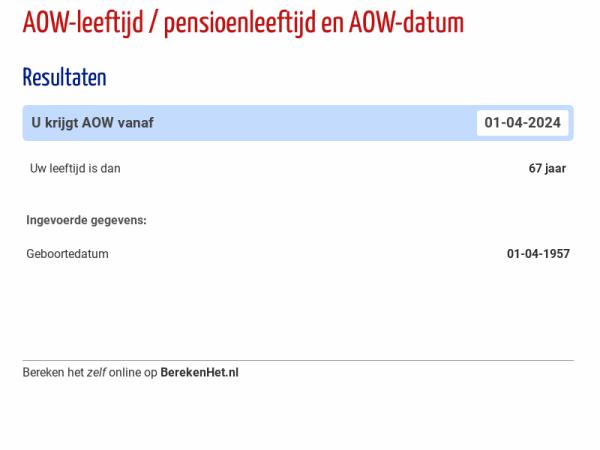 AOW-leeftijd & AOW-datum